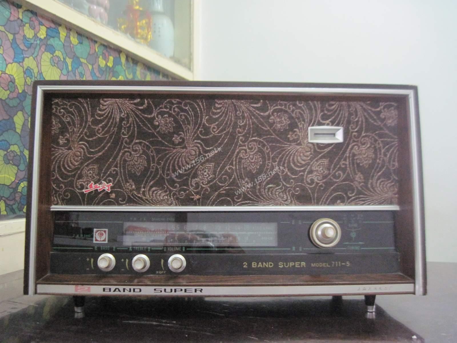 海陵区/红灯711/5电子管收音机,200元。(胆机发烧友请进)(已售出)