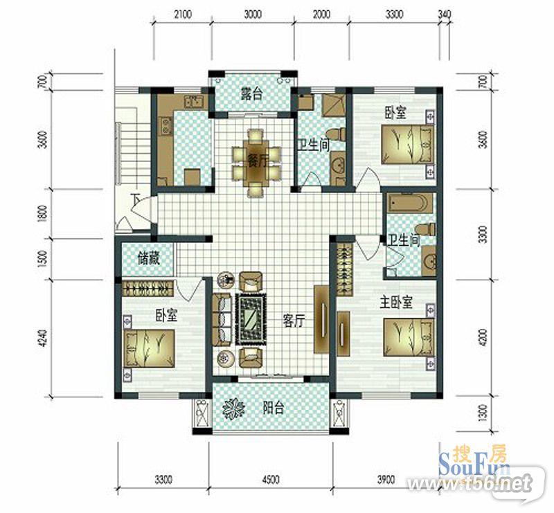 5米挑高房型找设计 寻客厅 电视墙 楼梯的效果图